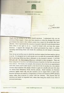 Gummer Letter